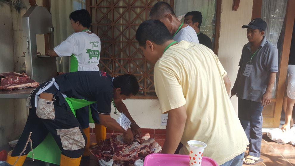 Pemotongan daging kurban